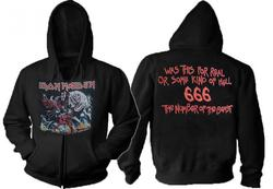 IRON MAIDEN The Number of the Beast Zip Hoodie
