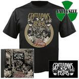 GENTLEMANS PISTOLS - Hustler's Row (CD + T-Shirt Bundle) LARGE