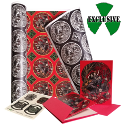 NUCLEAR BLAST AMERICA - Complete Gift Wrap Bundle (Wrap, Cards, Gift Tag)