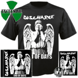 DISCHARGE - End of Days CD +  T-Shirt BUNDLE