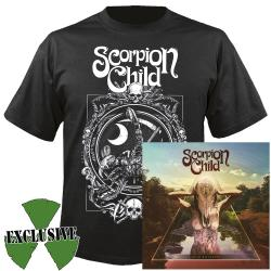 SCORPION CHILD - Acid Roulette (CD + T-Shirt Bundle) SMALL