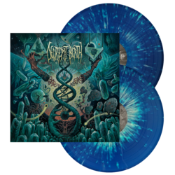 DECREPIT BIRTH Axis Mundi (Blue/Yellow Splatter)