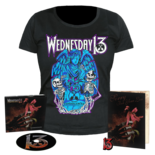 WEDNESDAY 13 - Condolences CD Dig + Girlie Shirt + Pin+ Card