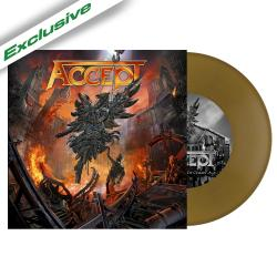 ACCEPT - The Rise of Chaos GOLD VINYL SINGLE Import