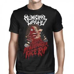 MUNICIPAL WASTE - Headbanger Face Rip Shirt