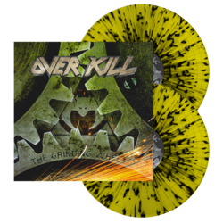 OVERKILL The Grinding Wheel (Yellow w/Black Splatter Vinyl)