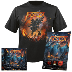 ACCEPT - The Rise of Chaos CD+T-Shirt+Poster Bundle