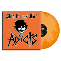 THE ADICTS And It Was So! ORANGE/ WHITE SPLATTER VINYL Import