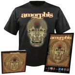 AMORPHIS - Queen of Time CD-Digipak+T-shirt+Poster bundle SM