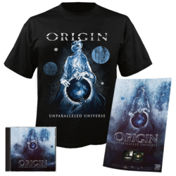 ORIGIN - Unparalleled Universe CD+ 2XL T-Shirt Bundle
