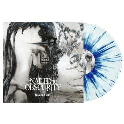 NAILED TO OBSCURITY - Black Frost WHITE/ BLUE SPLATTER VINYL