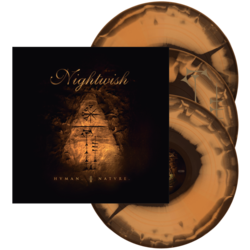NIGHTWISH - Human. :||: Nature. (Orange/Brown Swirl Vinyl)