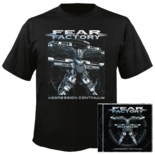 FEAR FACTORY - Aggression Continuum (CD+Shirt) Small