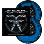 FEAR FACTORY - Aggression Continuum (BlkBluSwirl wSplat)